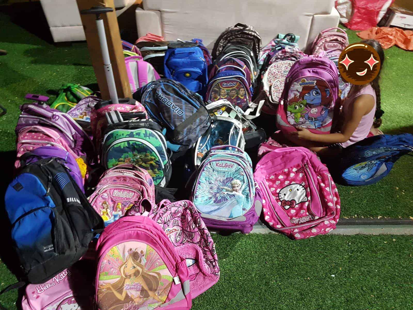 פרויקט איסוף ילקוטים לילדי בית הספר, צילום: מלי אלמלם
