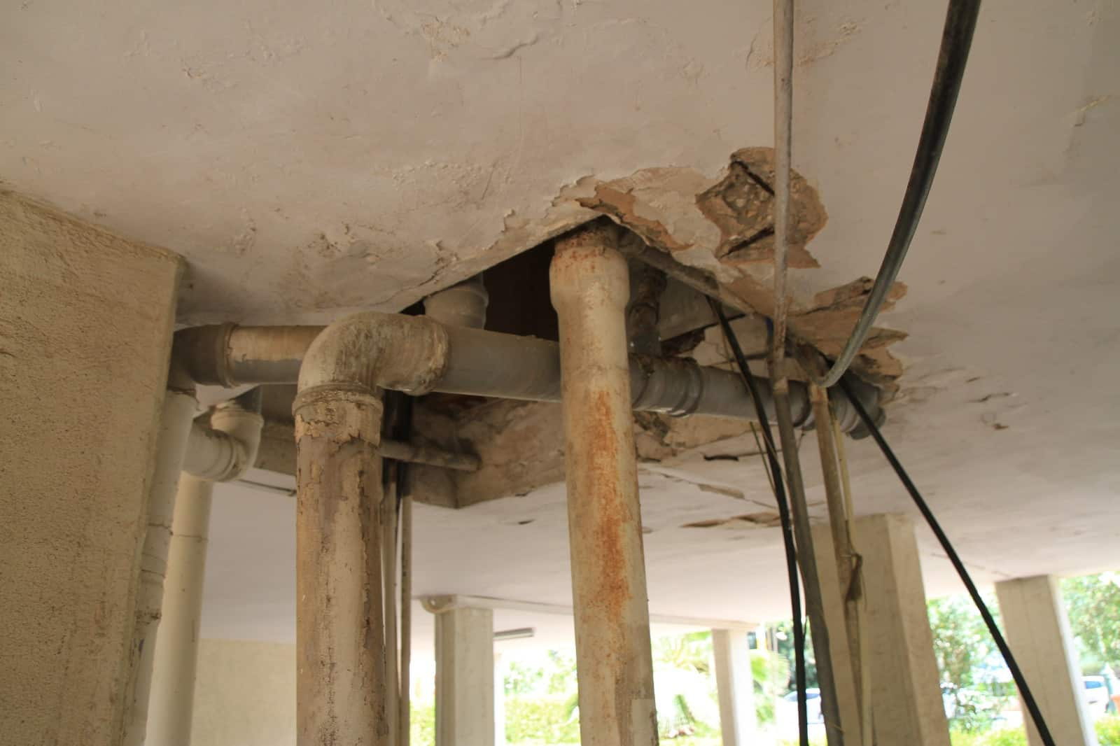 """מצב הבניינים הישנים היום, צילום: יח""""צ"""