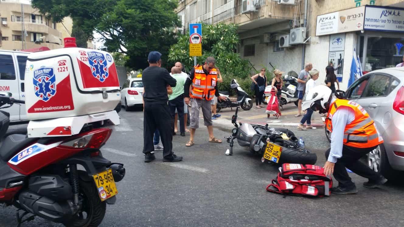 התאונה ברחוב קריניצי, צילום: מאיר פרידמן דוברות איחוד הצלה
