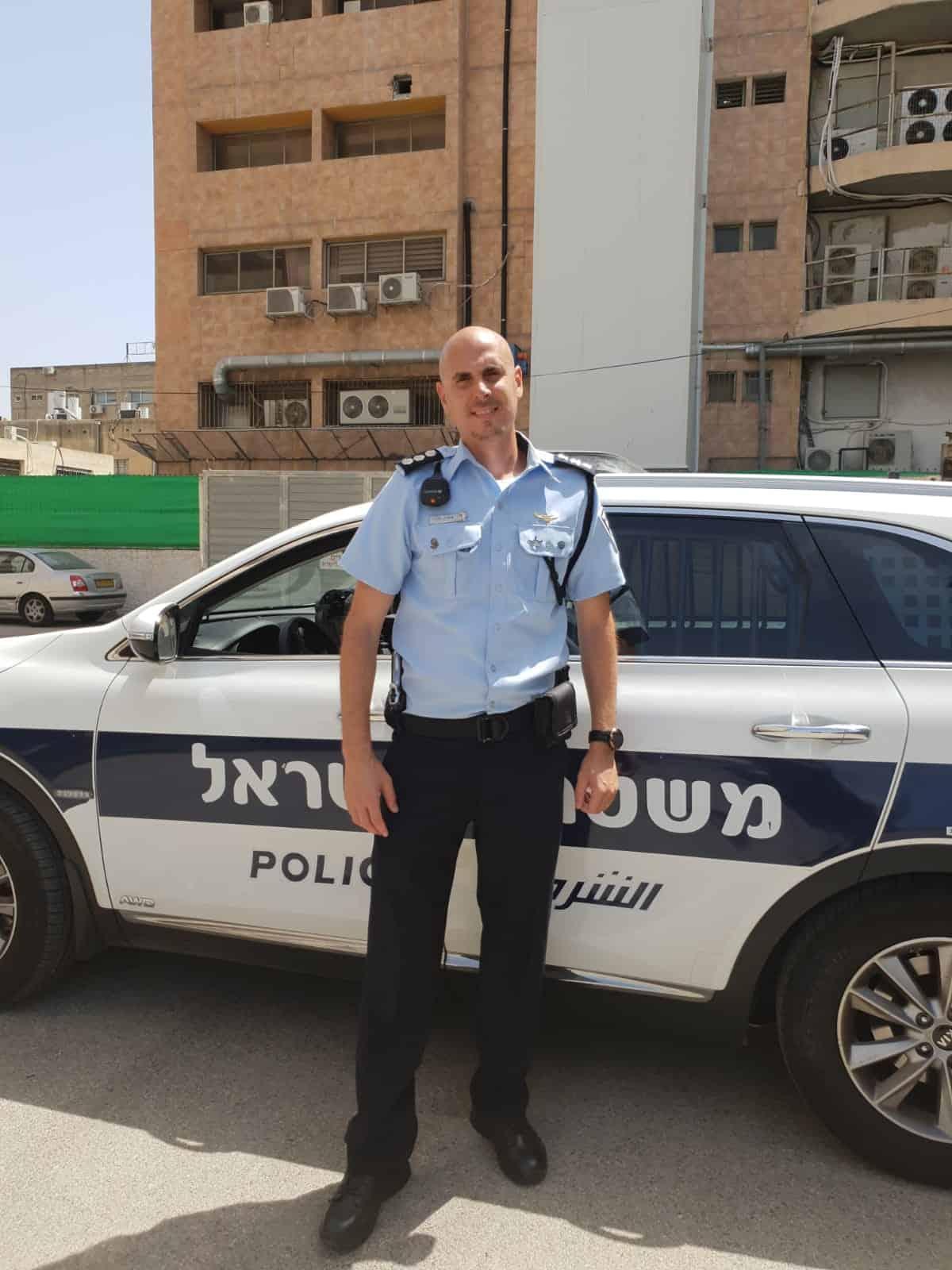 פקד איציק מלכי, צילום: באדיבות דוברות המשטרה